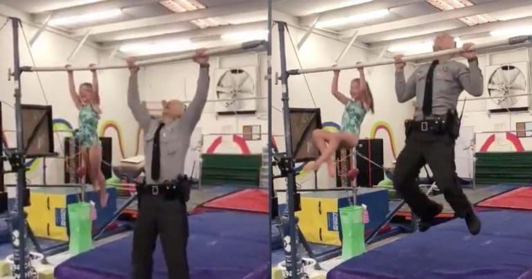 VIDEO: Adorable 7-Year-Old Challenges Her Cop Dad To Pull-Up Contest – You Won't Believe Who Won