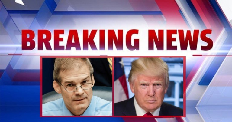 """Jim Jordan And Donald Trump Join Forces – They Just Rejected The Whistleblower's Request To """"Write It In"""""""