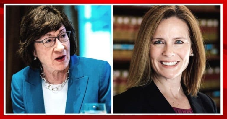 After Polling For Amy Coney Barrett Surges –  Susan Collins Turns On Her Own Party, Will Vote Against Amy