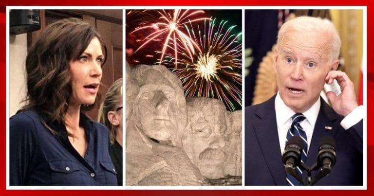 After Biden Cancels 4th Of July Fireworks – Governor Kristi Noem Fires Back With A Major Lawsuit