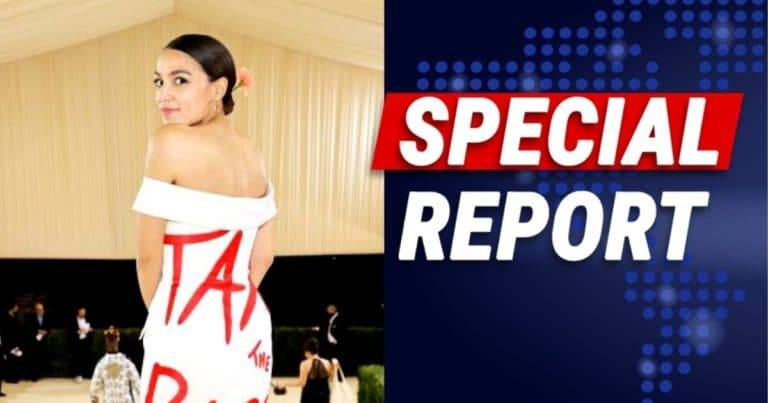 Queen AOC Suffers Growing Fallout Over Dress – Now She's Trying To Sell Expensive 'Tax The Rich' Merch